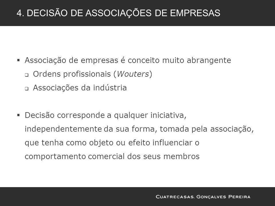 4. Decisão de associações de empresas