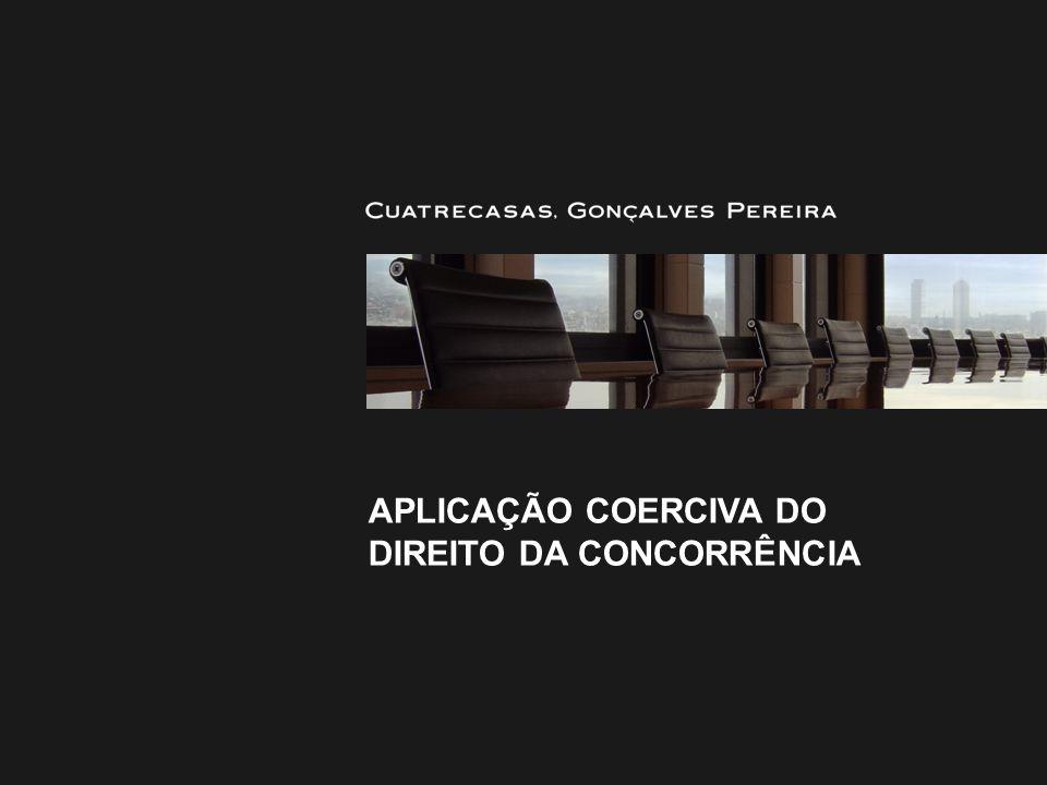 Aplicação coerciva do DIREITO DA CONCORRÊNCIA