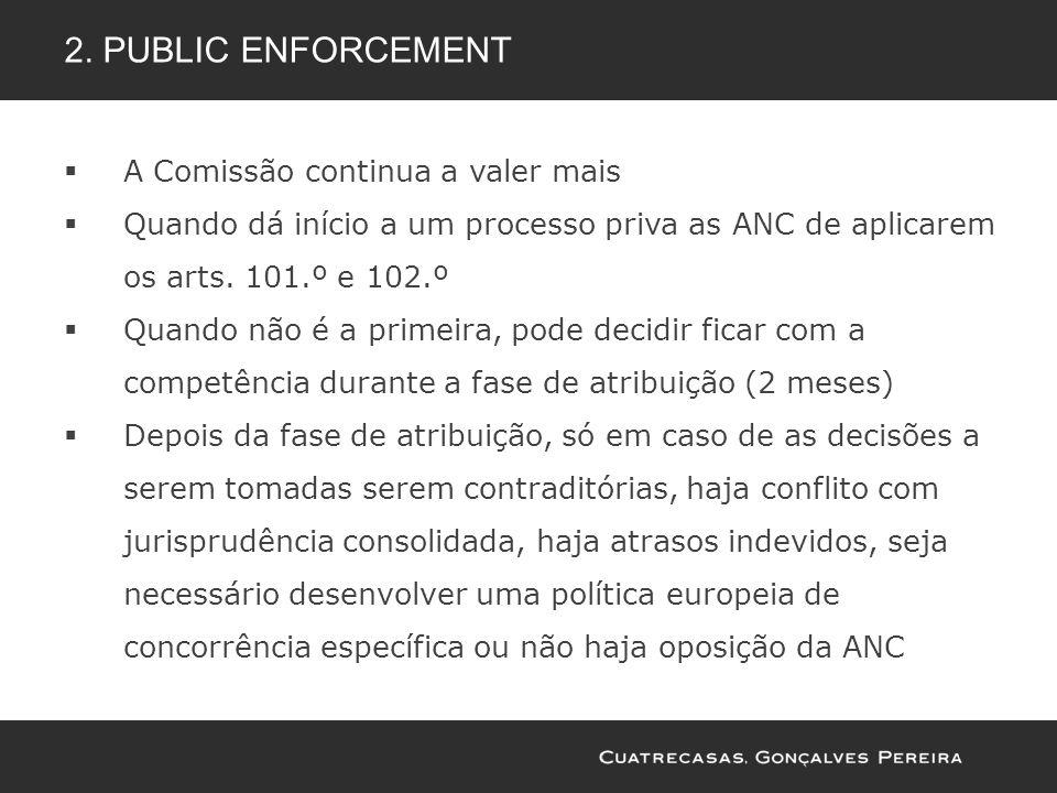 2. Public enforcement A Comissão continua a valer mais