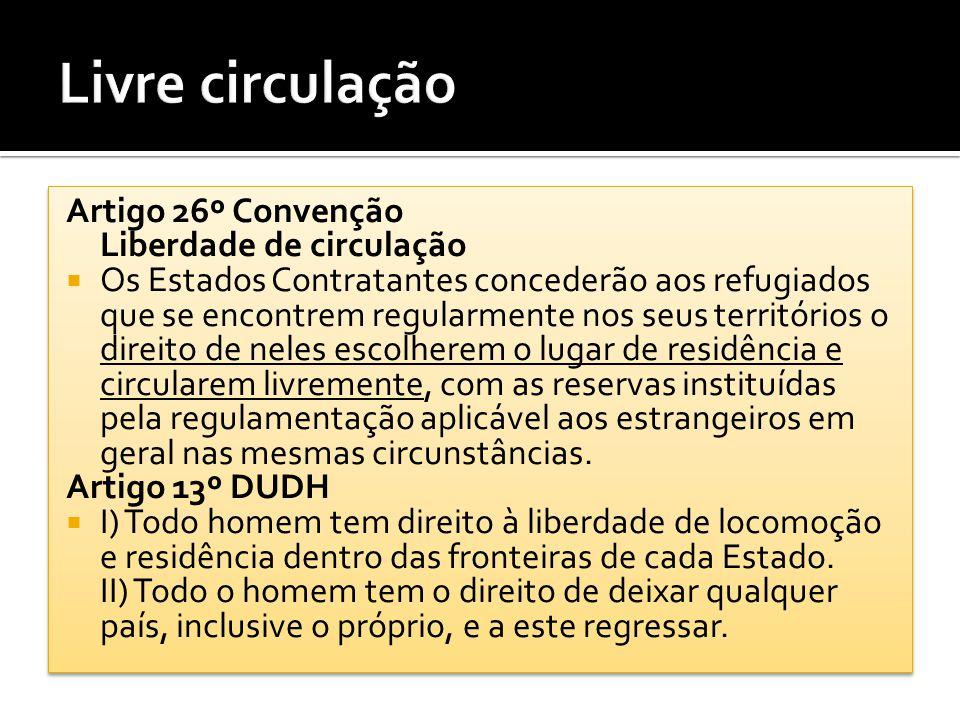 Livre circulação Artigo 26º Convenção Liberdade de circulação