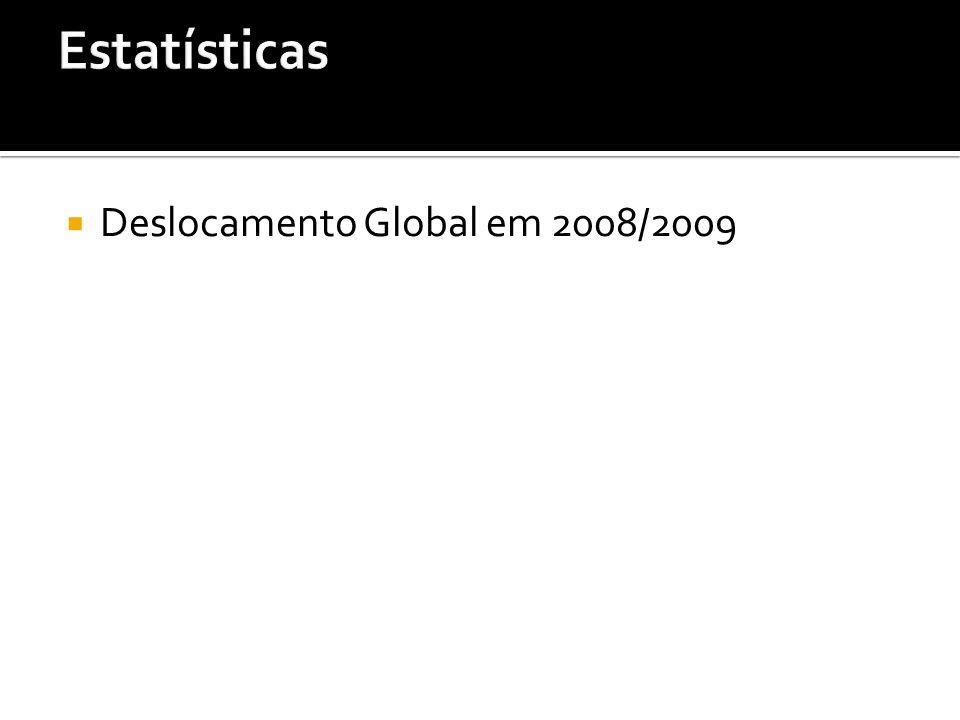 Estatísticas Deslocamento Global em 2008/2009