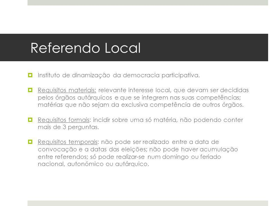 Referendo Local Instituto de dinamização da democracia participativa.