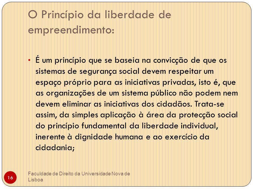 O Princípio da liberdade de empreendimento: