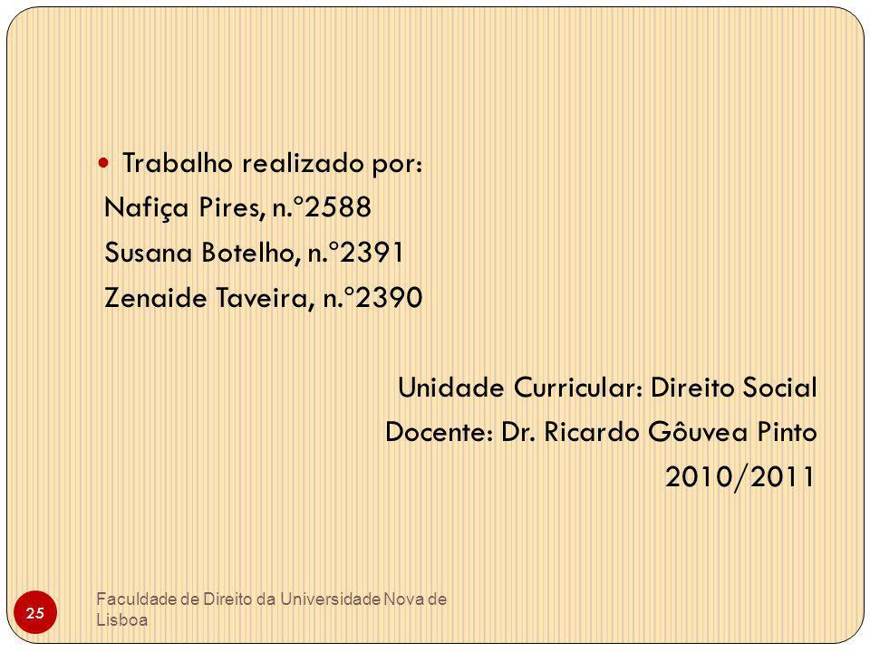 Trabalho realizado por: Nafiça Pires, n.º2588 Susana Botelho, n.º2391