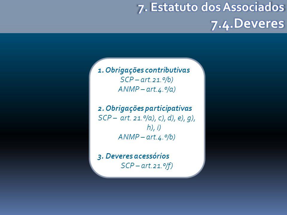 SCP – art. 21.º/a), c), d), e), g), h), i)