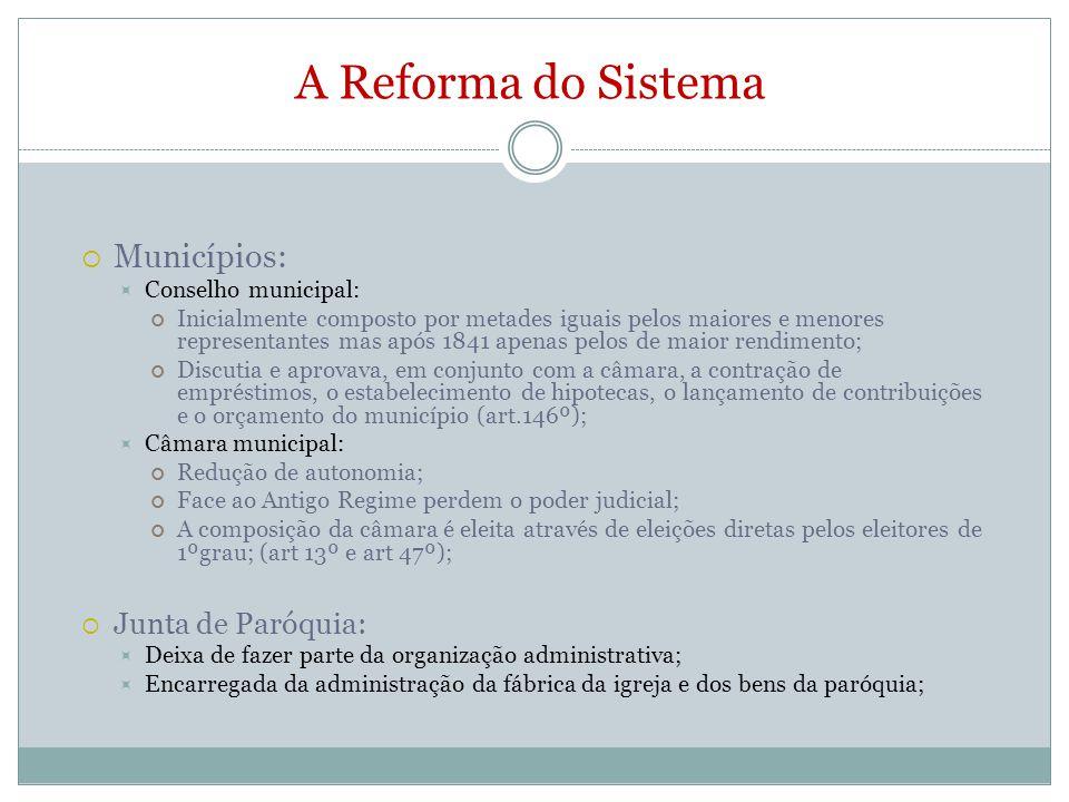 A Reforma do Sistema Municípios: Junta de Paróquia: