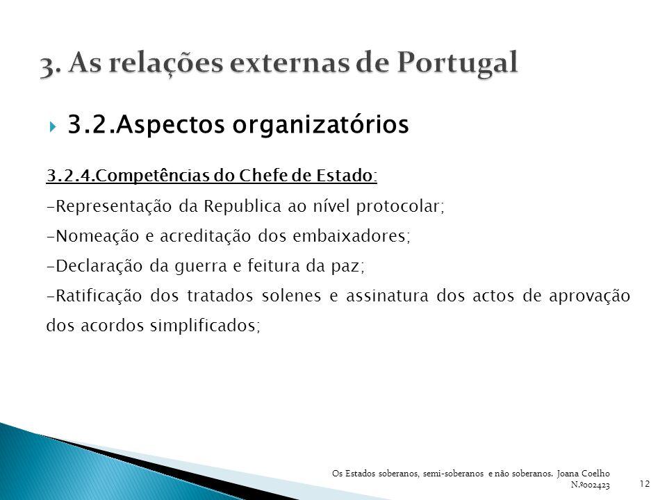 3. As relações externas de Portugal