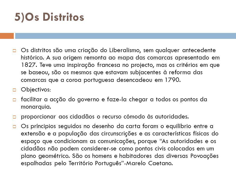 5)Os Distritos