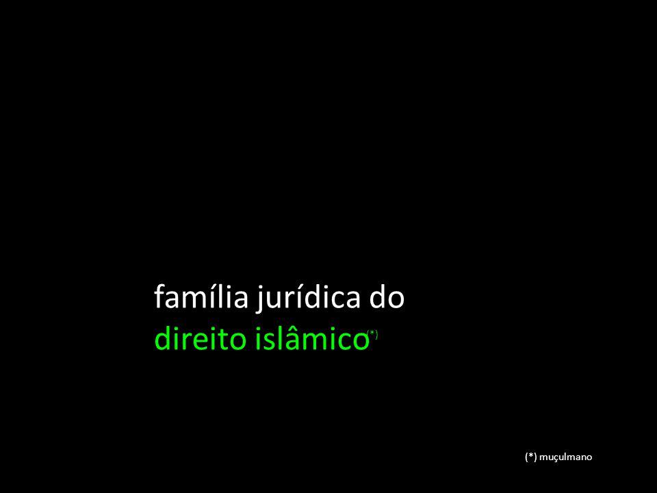 família jurídica do direito islâmico (*)