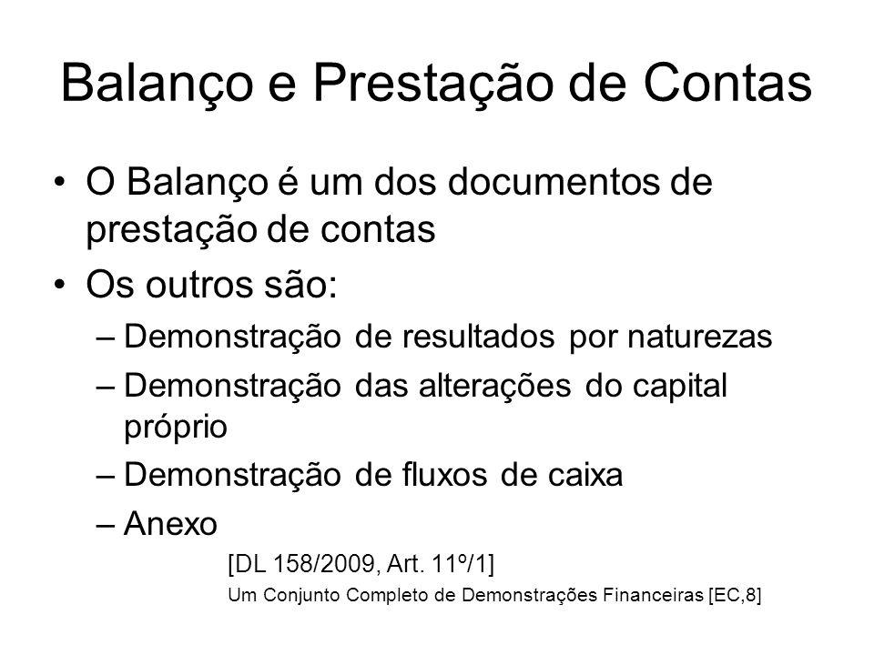 Balanço e Prestação de Contas