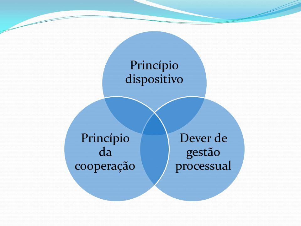 Princípio dispositivo Dever de gestão processual