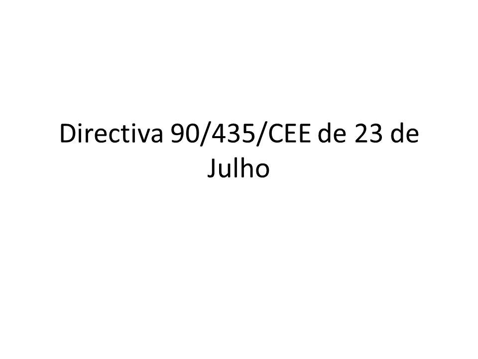 Directiva 90/435/CEE de 23 de Julho