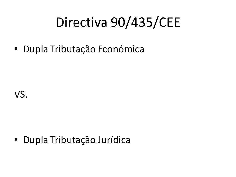 Directiva 90/435/CEE Dupla Tributação Económica VS.