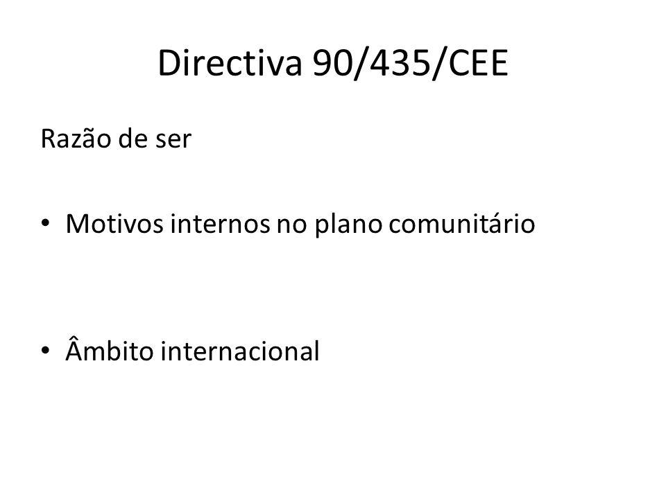 Directiva 90/435/CEE Razão de ser