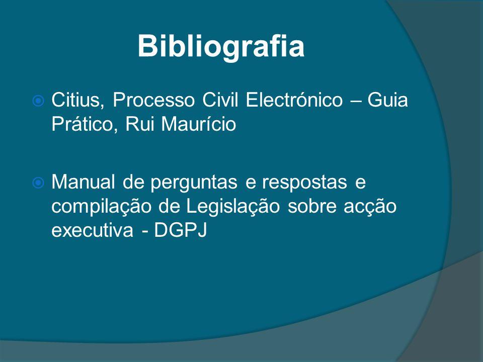 Bibliografia Citius, Processo Civil Electrónico – Guia Prático, Rui Maurício.