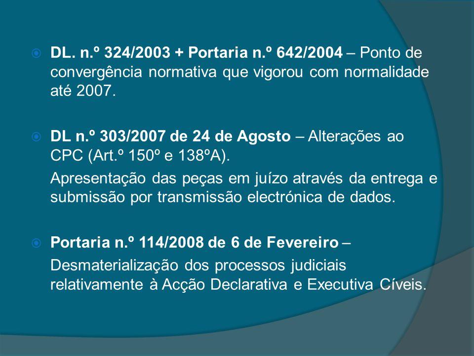 DL. n.º 324/2003 + Portaria n.º 642/2004 – Ponto de convergência normativa que vigorou com normalidade até 2007.