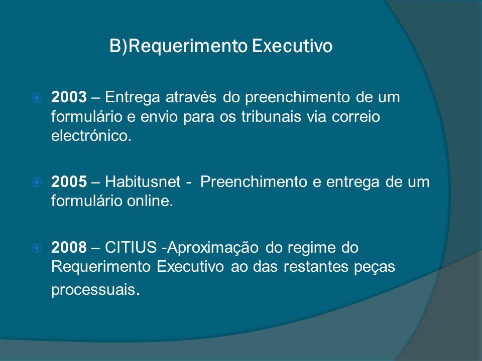 B)Requerimento Executivo