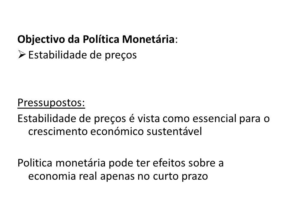 Objectivo da Política Monetária: