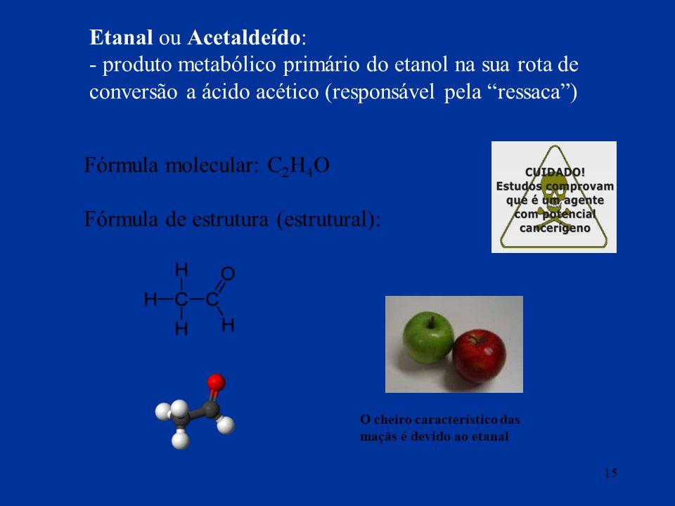 Etanal ou Acetaldeído: