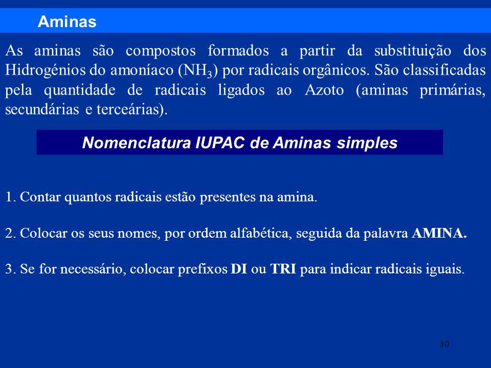 Nomenclatura IUPAC de Aminas simples