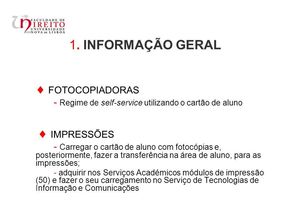 1. INFORMAÇÃO GERAL  FOTOCOPIADORAS