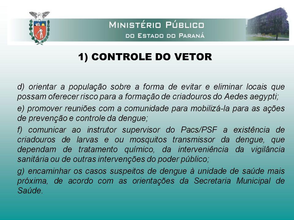 1) CONTROLE DO VETOR