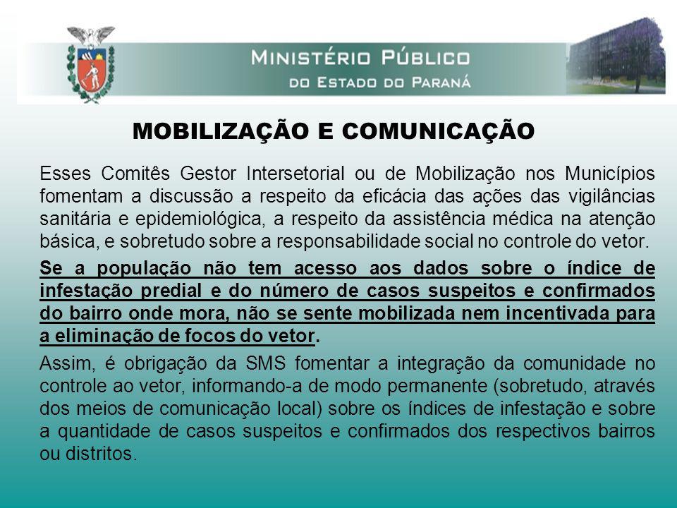 MOBILIZAÇÃO E COMUNICAÇÃO