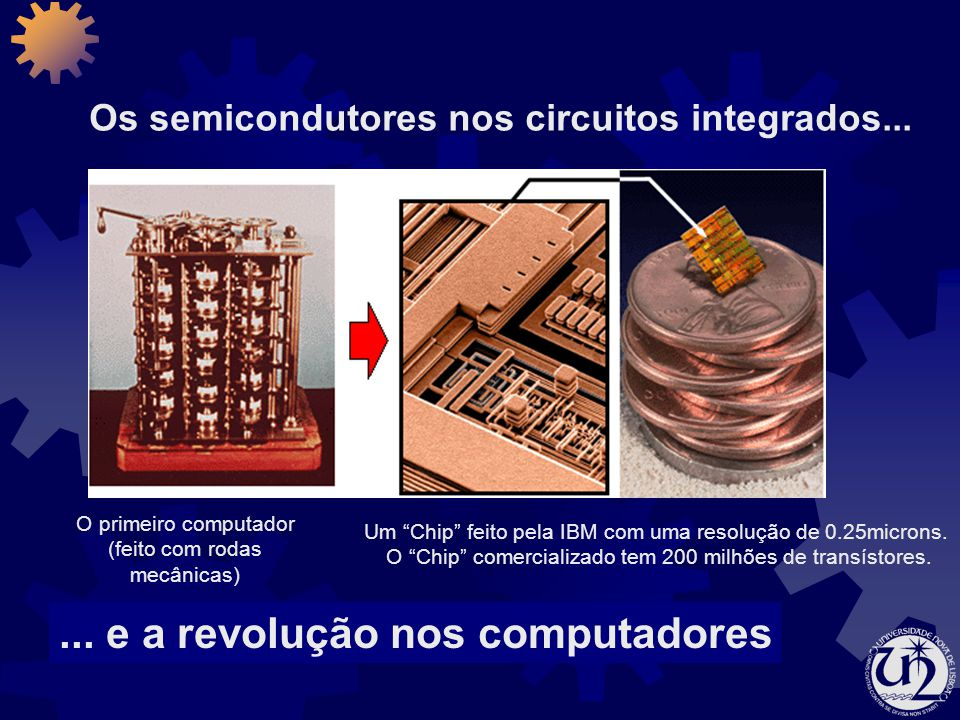 Os semicondutores nos circuitos integrados...