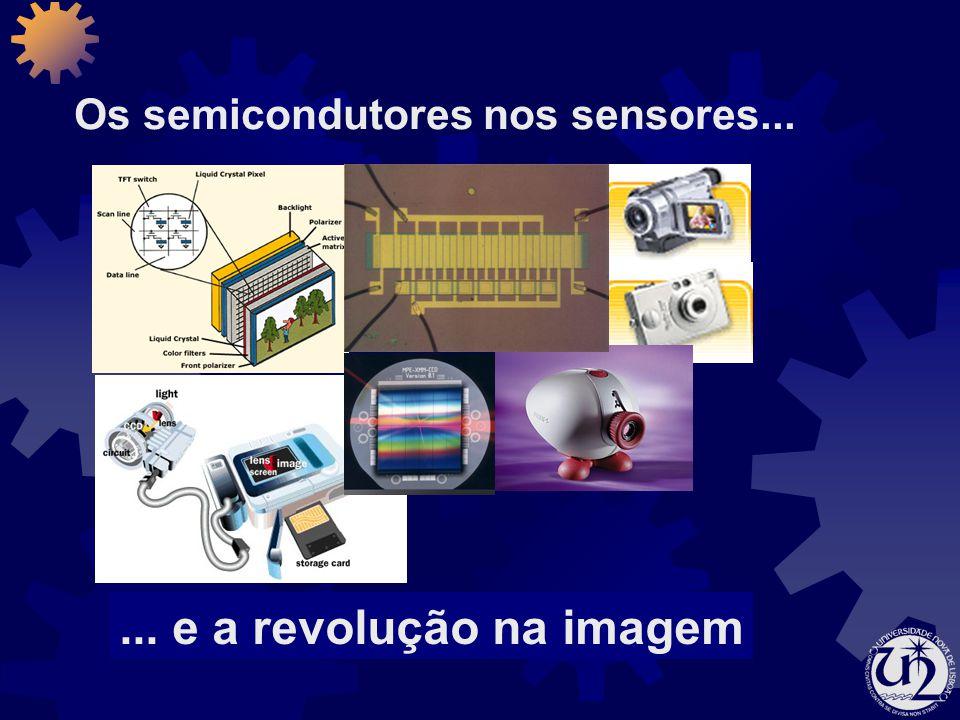 Os semicondutores nos sensores...