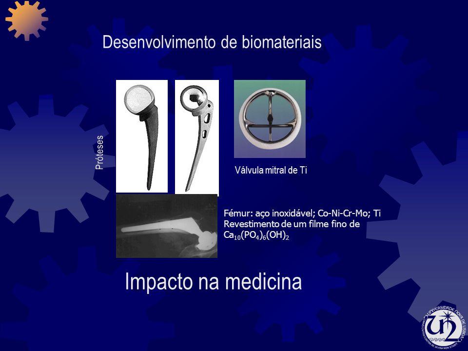 Impacto na medicina Desenvolvimento de biomateriais Próteses