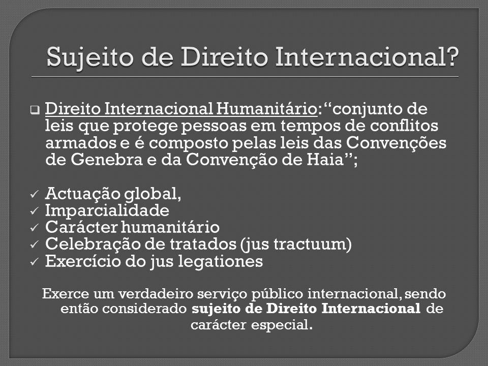 Sujeito de Direito Internacional