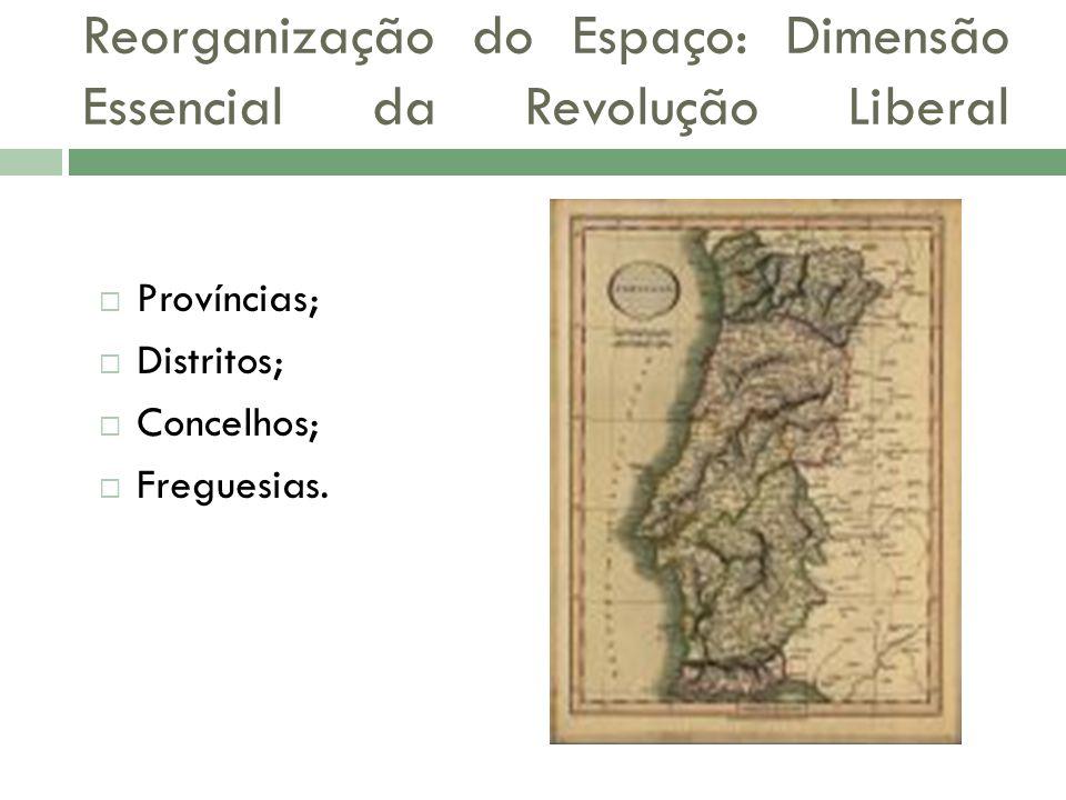 Reorganização do Espaço: Dimensão Essencial da Revolução Liberal