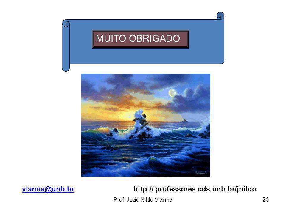 MUITO OBRIGADO vianna@unb.br http:// professores.cds.unb.br/jnildo