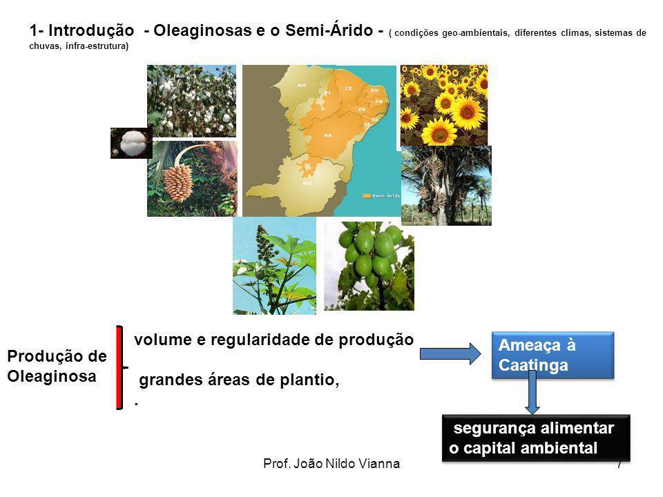 volume e regularidade de produção grandes áreas de plantio, .