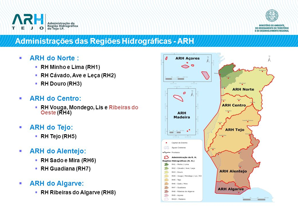 Administrações das Regiões Hidrográficas - ARH