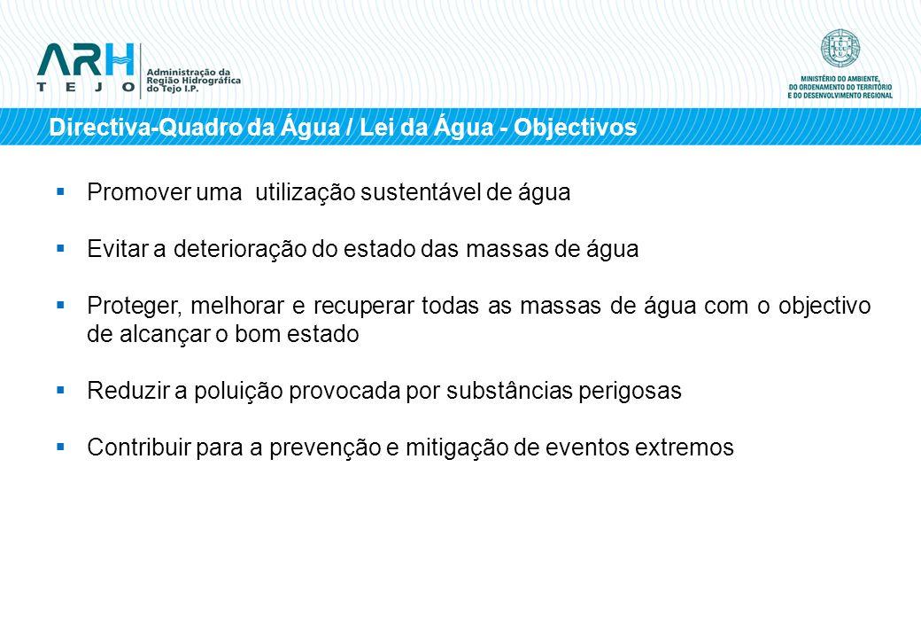 Directiva-Quadro da Água / Lei da Água - Objectivos