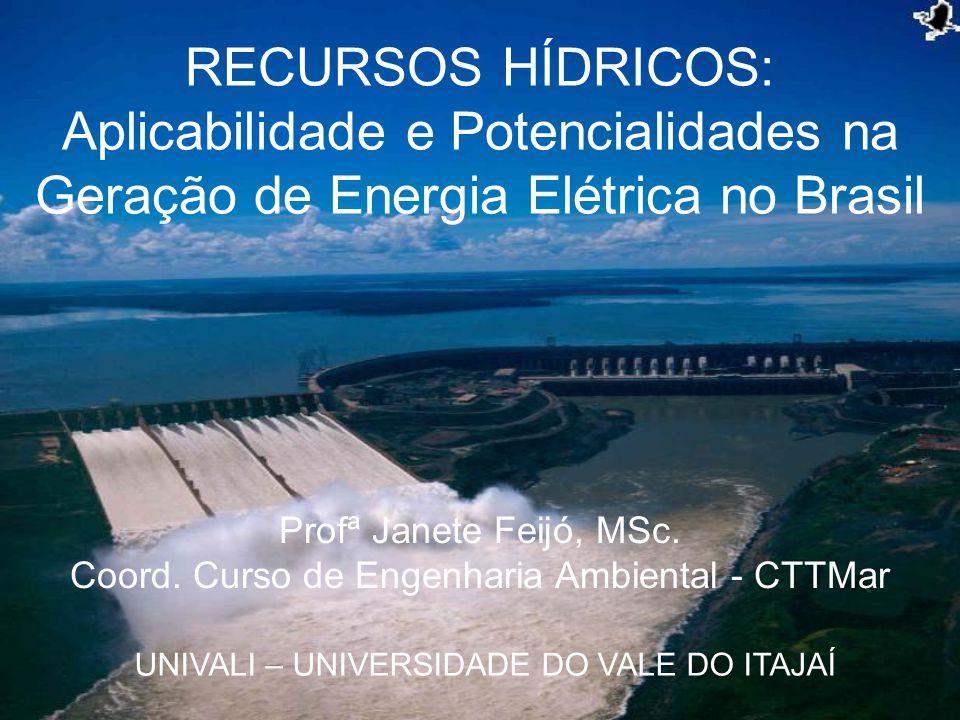 Profª Janete Feijó, MSc. Coord. Curso de Engenharia Ambiental - CTTMar