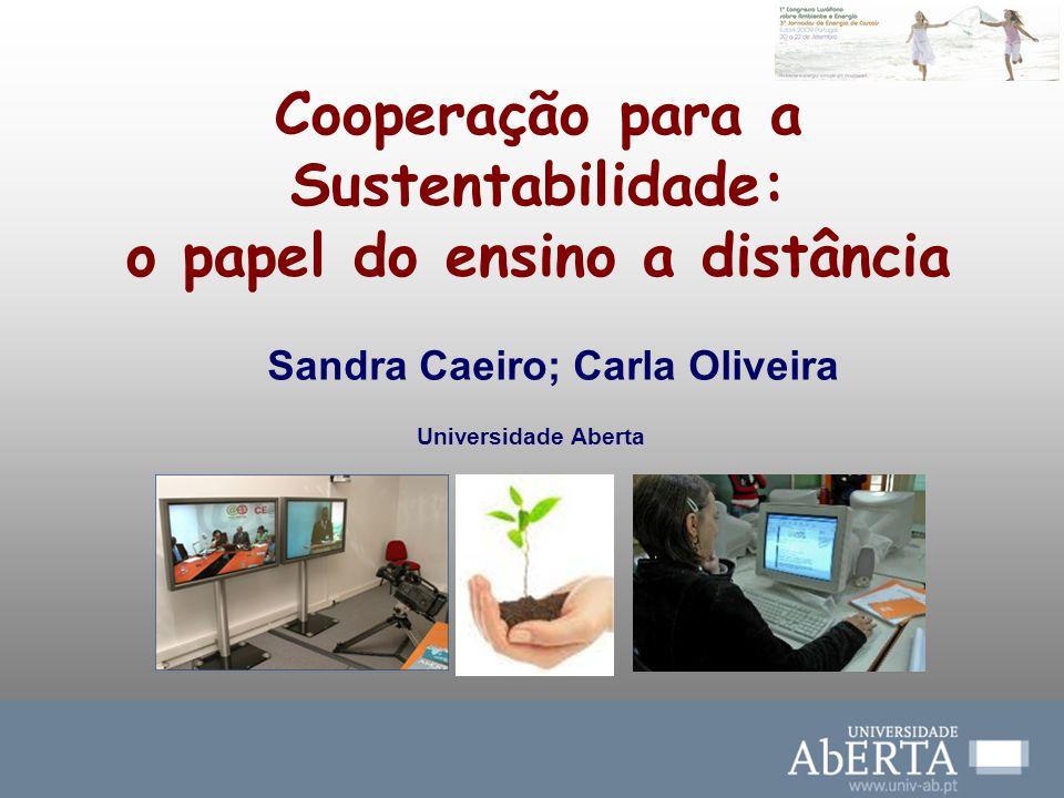 Cooperação para a Sustentabilidade: o papel do ensino a distância