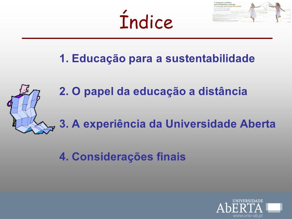 Índice 1. Educação para a sustentabilidade