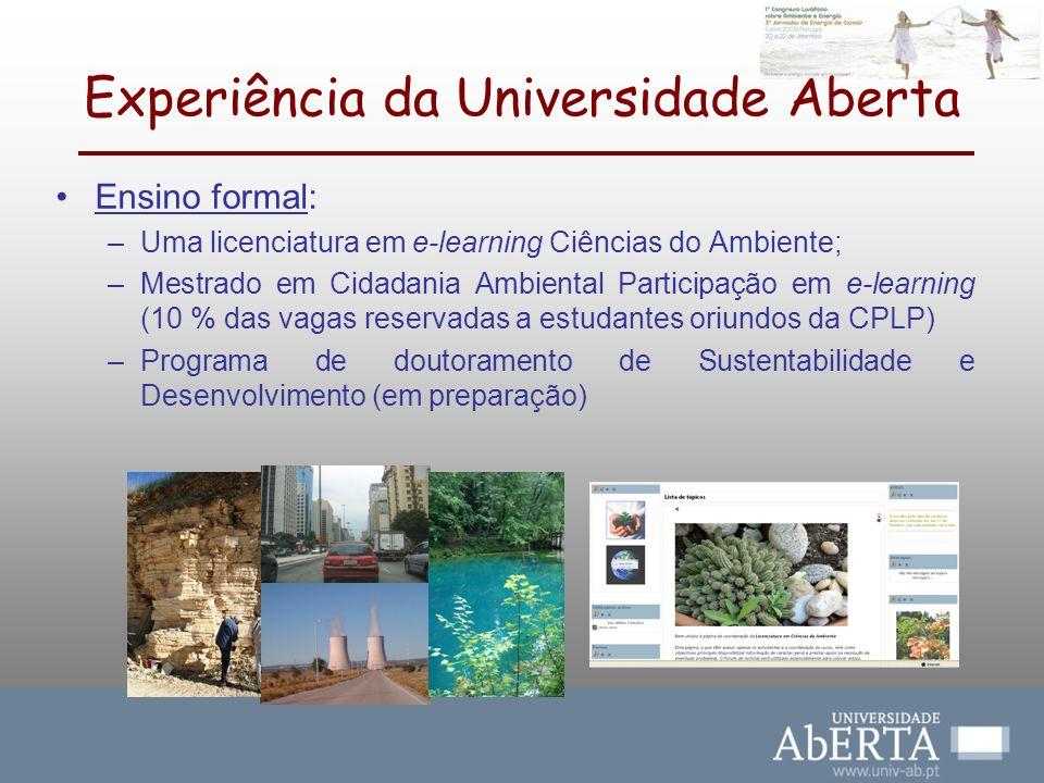 Experiência da Universidade Aberta