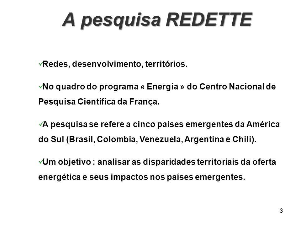 A pesquisa REDETTE Redes, desenvolvimento, territórios.