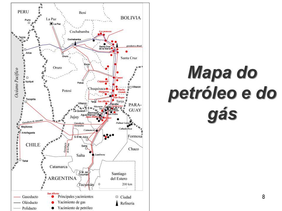 Mapa do petróleo e do gás