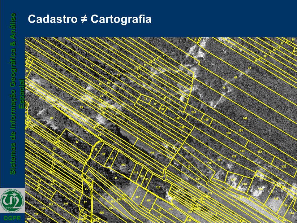 Cadastro ≠ Cartografia