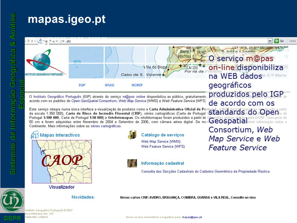 mapas.igeo.pt m@pas on-line