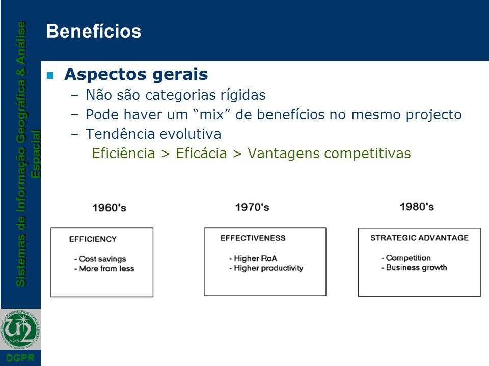 Benefícios Aspectos gerais Não são categorias rígidas