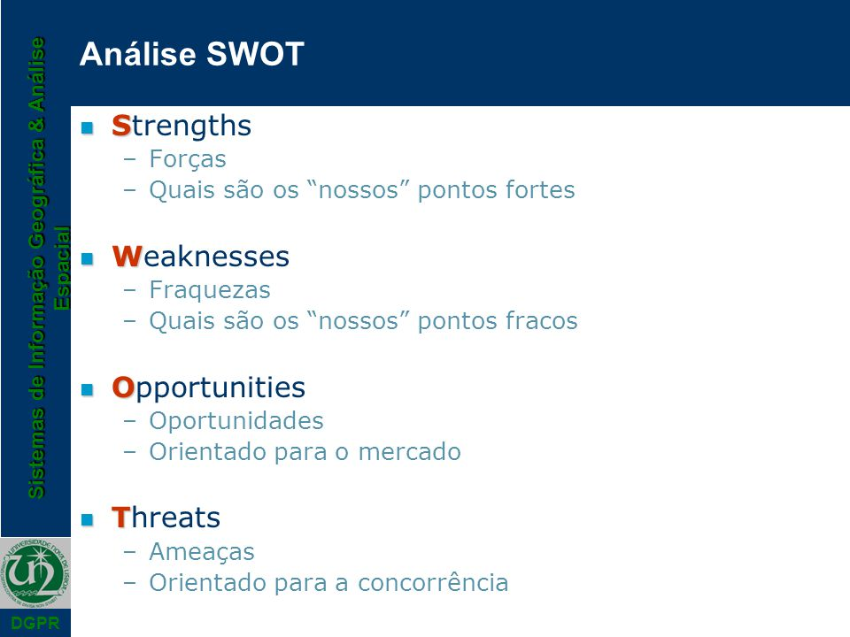 Análise SWOT Strengths Weaknesses Opportunities Threats Forças