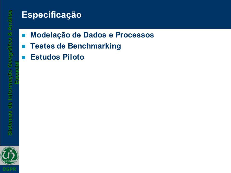 Especificação Modelação de Dados e Processos Testes de Benchmarking
