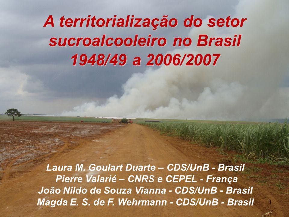 A territorialização do setor sucroalcooleiro no Brasil