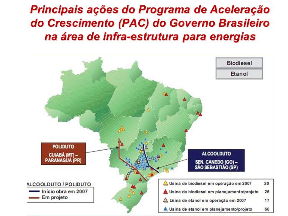 Principais ações do Programa de Aceleração do Crescimento (PAC) do Governo Brasileiro na área de infra-estrutura para energias