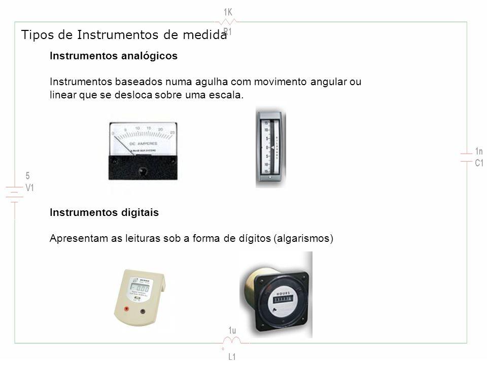 Tipos de Instrumentos de medida